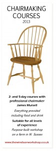 2013 Chairmaking courses at The Windsor Workhsop