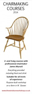 chair making courses brochure