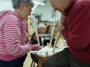 making a stool at The Windsor Workshop