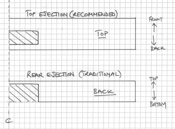 Alternative plans for ejecting shavings for wooden spokeshave kits from The Windsor Workshop