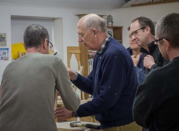 James Mursell demonstrating a new technique