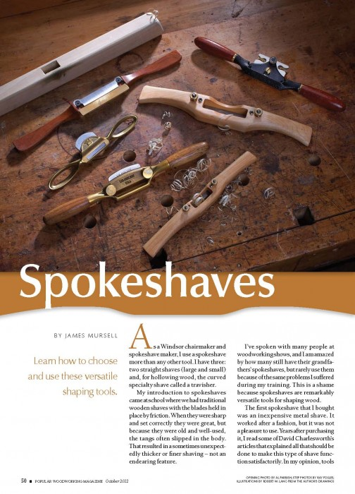 Wooden Spokeshaves article