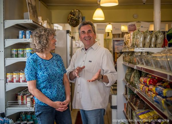 Judy and Bruce in the West Chiltington Post Office Stores