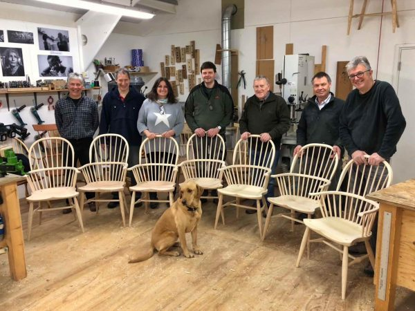 Chair making course photo